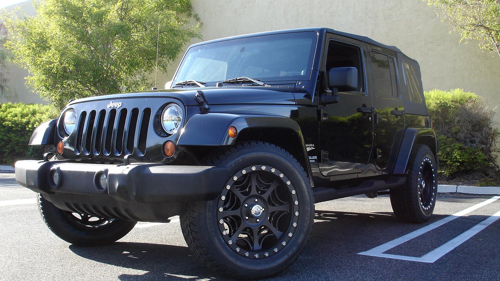 Jeep Wrangler White On Black >> Jeep Wrangler Black Widow Gallery - MHT Wheels Inc.