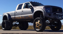 Full Blown Dually Rear - D254 on Ford F-350 Dually