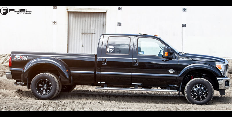 Ford F-350 Dually Throttle Dually Front - D513 Gallery - MHT Wheels ...