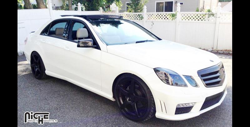 Mercedes benz e350 gt 5 m133 gallery mht wheels inc for Black rims for mercedes benz e350