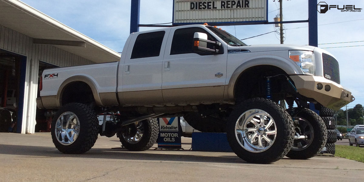 Painted Black Steel Rims On Ford Super Duty