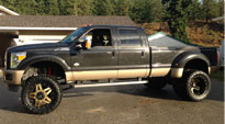 Full Blown Dually Front - D254 on Ford F-350