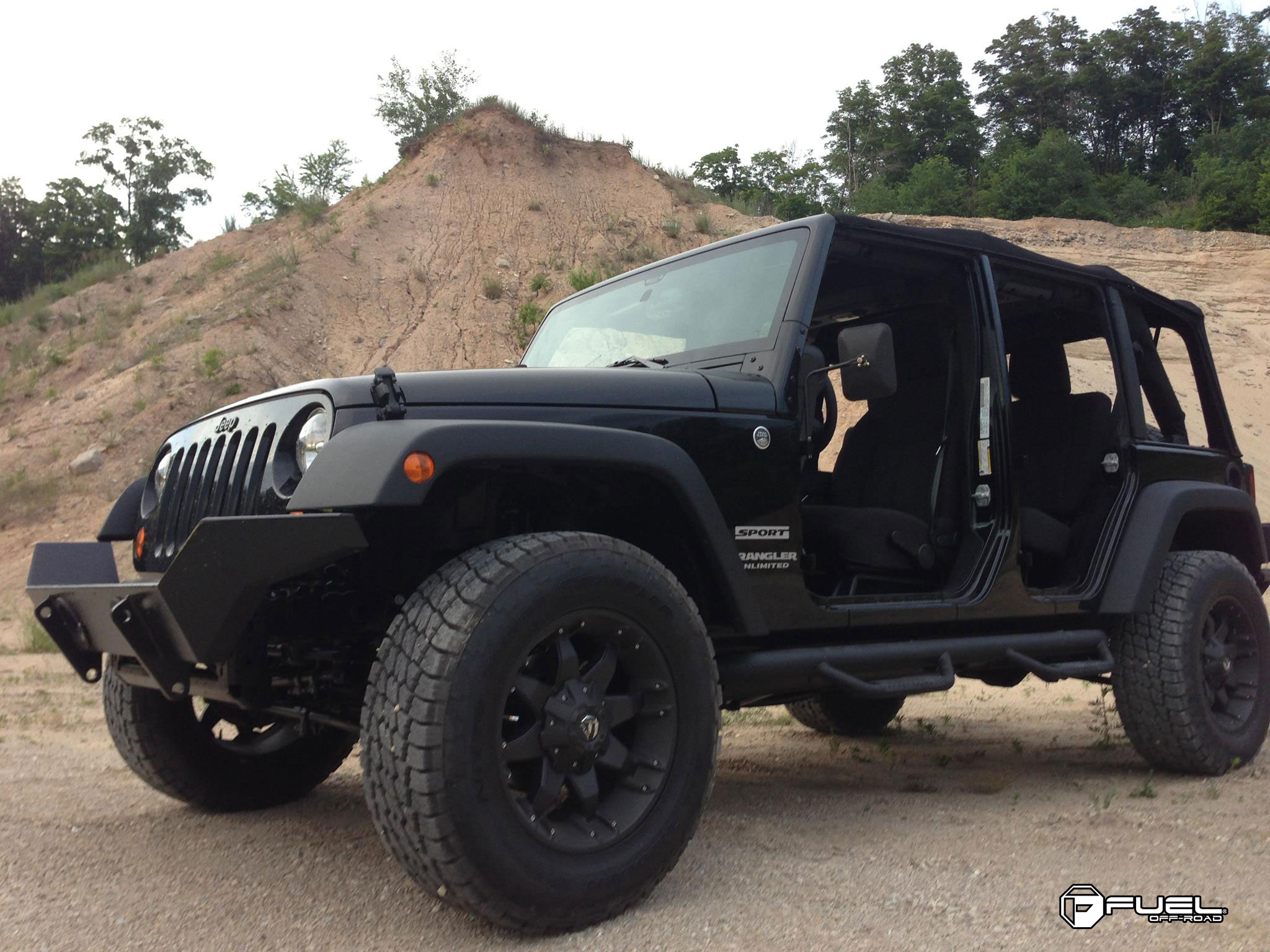 Black Wheels For Jeeps Jeep Wrangler Octane - D509 Gallery - MHT Wheels Inc.