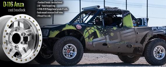 Fuel D-116 Anza beadlock race wheel