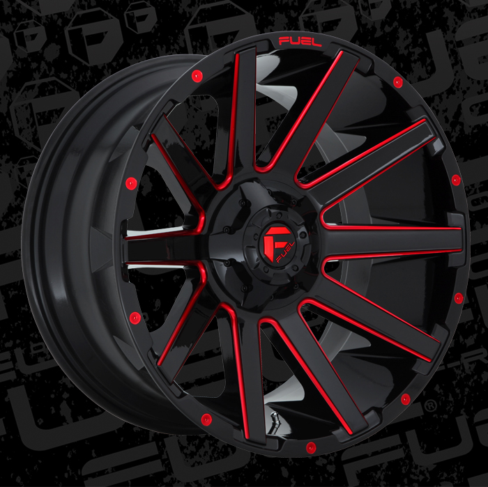 Black And Red >> Contra - D643 - MHT Wheels Inc.