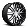 Anzio - M165 Gloss Black & Brushed 22x9