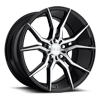 Ascari - M166 Gloss Black & Brushed 20x10