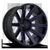Contra - D644 24x14 | Gloss Black w/ Candy Blue