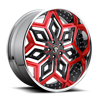 Chron - X87 Red w/ Black Accents and chrome lip
