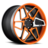 X80-Game On Matte Black & Orange w/ Machined Spoke