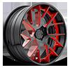 XA90 - Manor Gloss Black w/ Red Windows | Gloss Black Lip