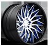 XA80 - Tryst Brushed w/ blue windows, DDT end spoke, Black lip