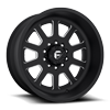 FF09D - 10 Lug Front Super Single Matte Black & Milled