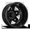 FF21D - Rear Gloss Black w/ Cherry Red