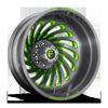 FF28D - Rear Brushed DDT w/ Lime Green Windows