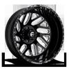 FF29D - Rear 24x8.25 | 8 Lug | Gloss Black & Milled