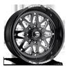 FF34 - 8 Lug 22x10 | Gloss Black & Milled