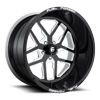 FF45 - 5 Lug Gloss Black w/ White Windows