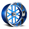 FF45-6 Lug Candy Blue w/ Polish Windows