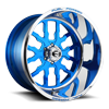 FF45-6 Lug Candy Blue w/Polished Lip