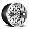 FF45 - 8 Lug Brushed Face w/ Black Windows / Polished Lip