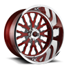 FF45 - 8 Lug Ruby Red w/ Anthracite Windows
