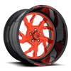 FF51 - 5 Lug Candy Red w/ Gloss Black