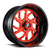 FF51 - 6 Lug Candy Red w/ Gloss Black