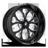 FF58 - 5 Lug Gloss Black & Milled