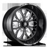 FF58 - 6 Lug Black & Milled