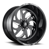 FF59 - 6 Lug Black & Milled