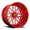 FF66 - 8 Lug Candy Red & Milled