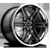 Cruise - F510 (step lip) Gloss Black with Chrome Lip