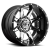 Rampage - D247 Chrome center, gloss black outer
