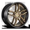 Methos - M195 20x10 | Bronze w/ Gloss Black Lip