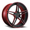 Roma 20x9 Matte Black w/ Candy Red
