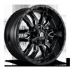 Sledge - D595 22x10 | Gloss Black & Milled