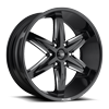 Slider-F162 Gloss Black & Milled