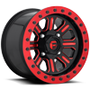 Hardline - D911 Beadlock Gloss Black w/ Candy Red