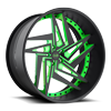 XA60 - Zaggs Matte Black Face | Green Windows